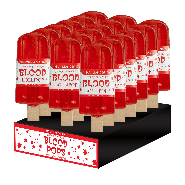 Blood Pop Lollipops By Melville Candy