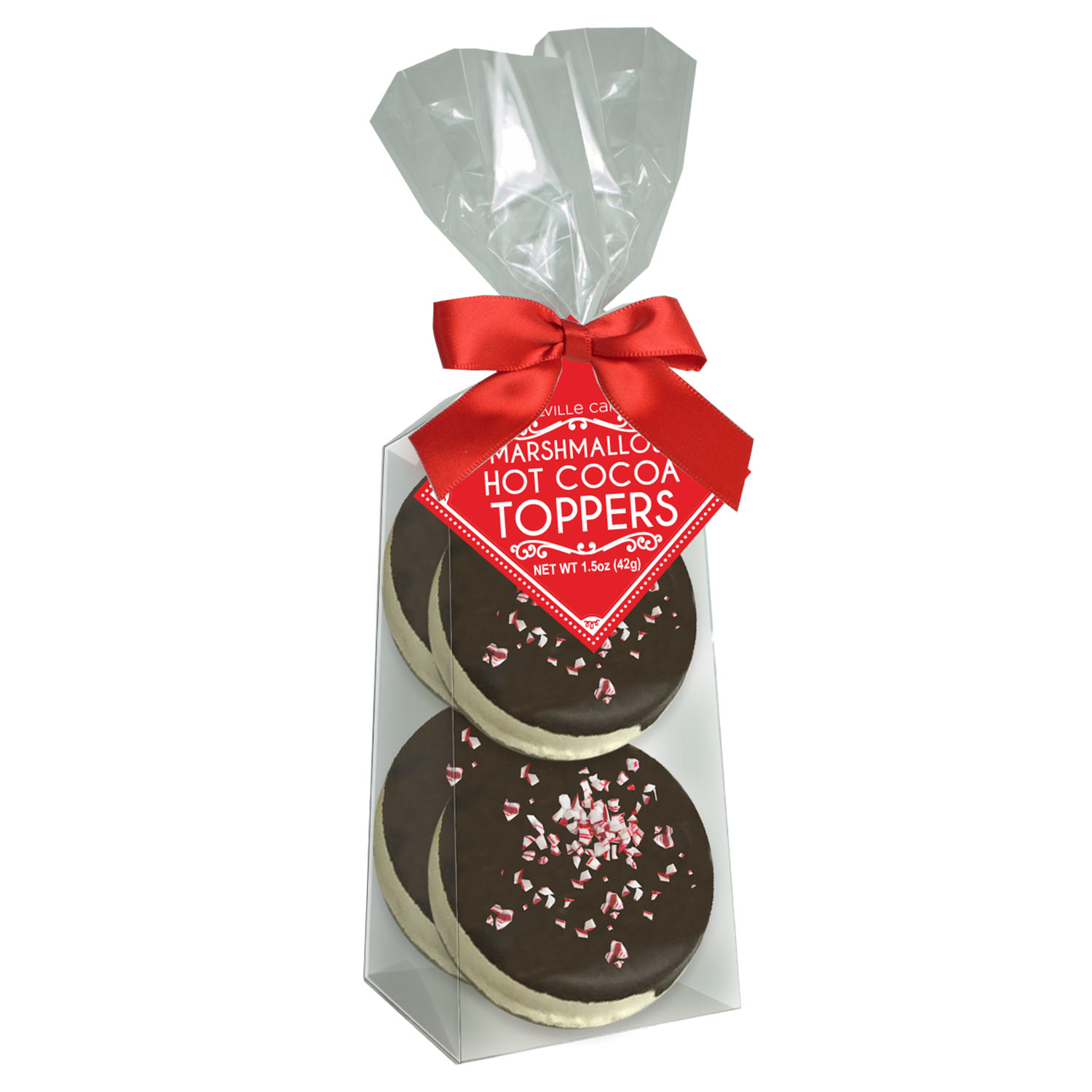 Dark Chocolate Peppermint Marshmallow Toppers by Melville Candy