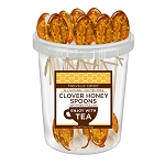 Clover Honey and Bee Pollen Spoons: 30 Pack Bucket