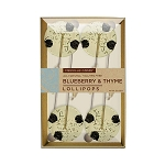 Blueberry & Thyme Natural Lollipops: 3 Kraft Gift Sets