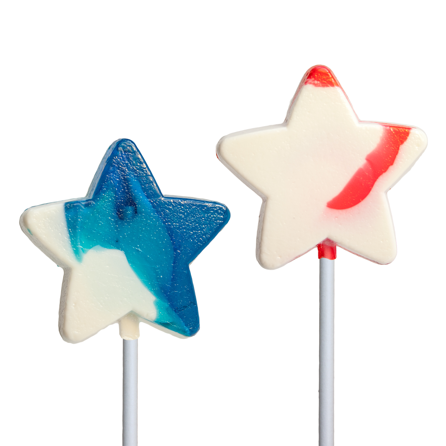 Patriotic Mini Swirl Star Lollipops By Melville Candy