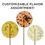 Customizable Gourmet Flavor Lollipop Sampler: 24 Pack