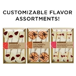 Customizable Gourmet Flavor Lollipop Sampler: 3 Kraft Gift Sets