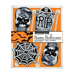 Frosted Halloween Lollipop Assortment: 3 Acetate Gift Sets