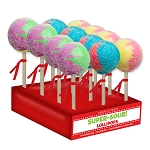 Super-Size Sour Lollipops: 12 Pack Display