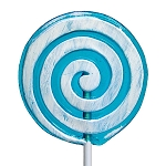 Giant Frosted Swirl Lollipops: 6 Pack