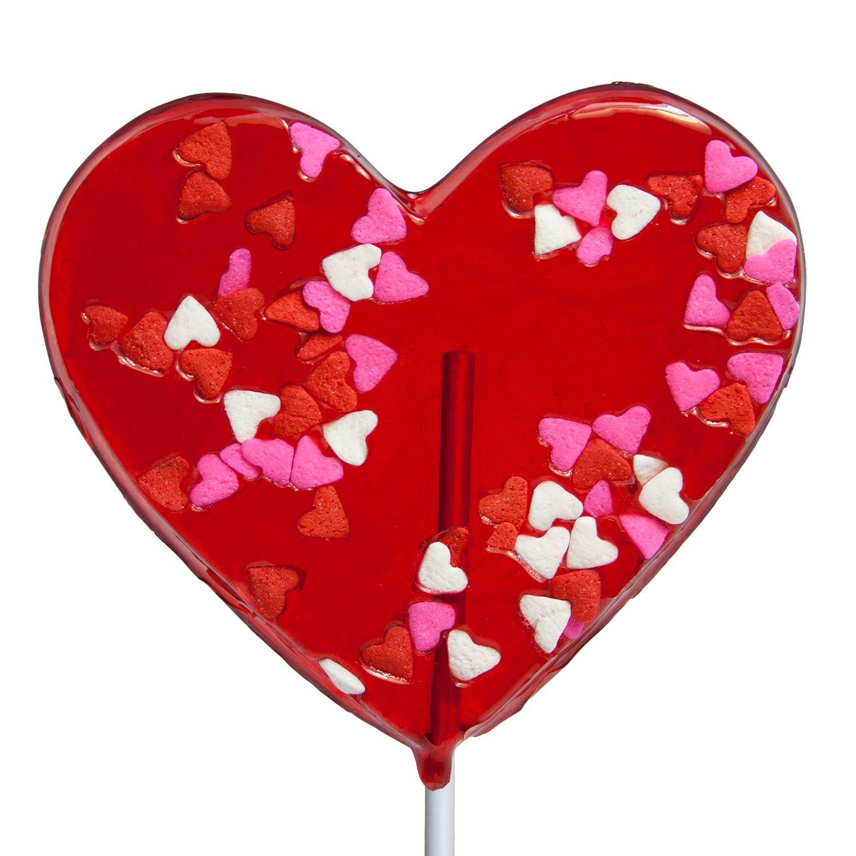valentine confetti heart lollipops 3 kraft gift sets - Valentine Lollipops