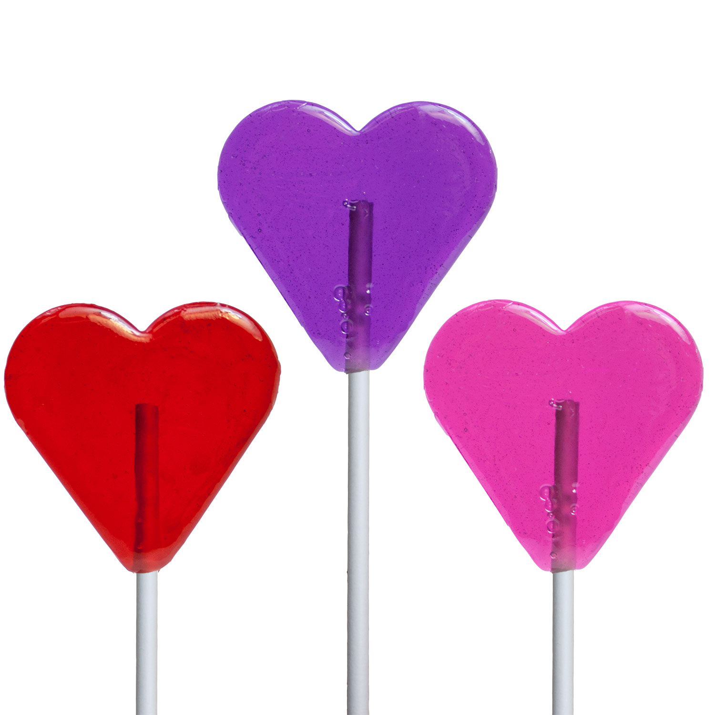 valentine mini heart lollipops by melville candy - Valentine Lollipops