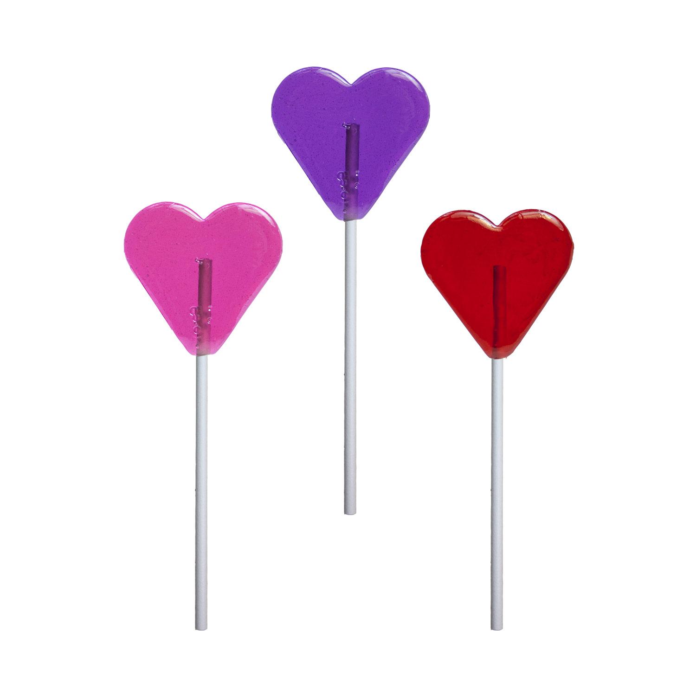 valentine mini heart lollipops 24 pack display - Valentine Lollipops