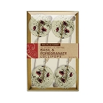 Basil & Pomegranate Natural Lollipops: 3 Kraft Gift Sets