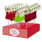 Chocolate Dipped Holiday Confetti Lollipop Assortment: 24 Pack Display