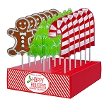 Frosted Holiday Lollipop Assortment: 24 Pack Display