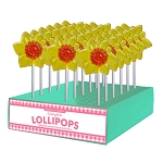 Daffodil Lollipops: 24 Pack Display