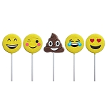 Emoticon & Poop Lollipop Assortment: 12 Pack