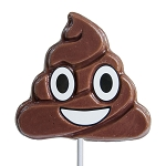 Emoticon Poop Lollipops: 24 Pack