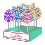Frosted Egg & Bunny Lollipop Assortment: 24 Pack Display