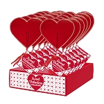 Giant Heart Lollipops: 12 Pack Display