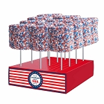 Giant Patriotic Crystalz Marshmallows: 12 Pack Display