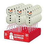 Snowman Marshmallow Lollipops: 18 Pack Display