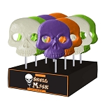 Giant Skull Lollipop Masks: 12 Pack Display
