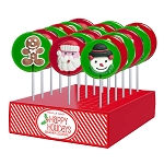 Royal Iced Holiday Lollipop Assortment: 24 Pack Display