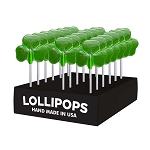 Lucky Shamrock Lollipops: 24 Pack Display