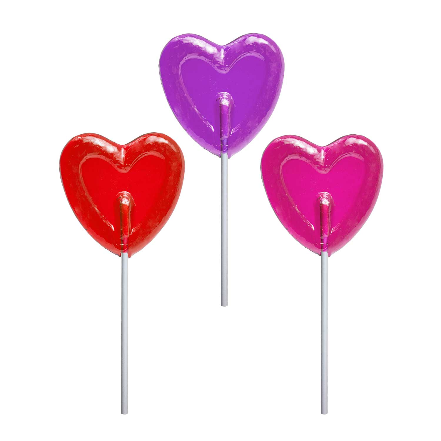 Valentine Small Heart Lollipops By Melville Candy