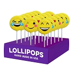 Emoticon Lollipops: 24 Pack Display