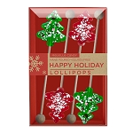 Mini Peppermint Tree Lollipops: 3 Kraft Gift Sets