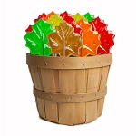 Autumn Leaf Lollipops: 30 Pack Basket