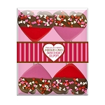 Chocolate Dipped Confetti Heart Lollipops: 3 Acetate Gift Sets