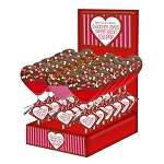 Chocolate Dipped Confetti Heart Lollipops: 24 Pack Display