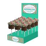 Large Confetti Marshmallow Cupcakes: 18 Pack Display