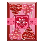 Chocolate Drizzled Heart Lollipops: 3 Kraft Gift Sets