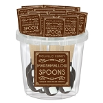 Mini Marshmallow Chocolate Dipped Spoons: 30 Pack Bucket