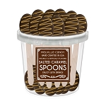 Salted Caramel & Chocolate Dipped Spoons: 50 Pack Bucket