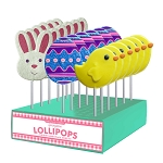 Fancy Easter Lollipop Assortment: 24 Pack Display
