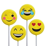 Emoticon Lollipops: 12 Pack