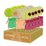 Sour Margarita, Peach Bellini, & Whiskey Sour Cocktail Lollipops: 24 Pack Display