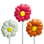 Fancy Daisy Lollipops: 12 Pack