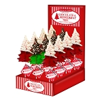 Chocolate Dipped Peppermint Tree Lollipops: 24 Pack Display