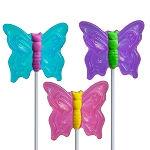 Fancy Butterfly Lollipops: 24 Pack