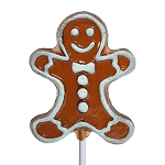 Frosted Gingerbread Man Lollipops: 24 Pack