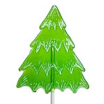 Frosted Holiday Tree Lollipops: 24 Pack
