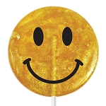 Giant Glitter Smiley Face Lollipops: 6 Pack