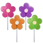 2oz Spring Daisy Lollipops: 6 Pack