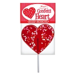 Giant Confetti Heart Lollipops: 6 Pack Peg