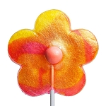 Giant Glitter Daisy Lollipops: 6 Pack