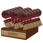 Chocolate Dipped Raspberry Gourmet Lollipops: 24 Pack Display