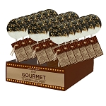 Chocolate Dipped Toasted Coconut Gourmet Lollipops: 24 Pack Display